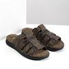 Pánské hnědé kožené nazouváky bata, hnědá, 876-4600 - 26