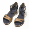 Kožené sandály na klínku bata, modrá, 626-9642 - 16