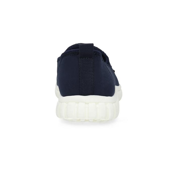 Slip-on tenisky s kamínky bata-red-label, modrá, 539-9604 - 15