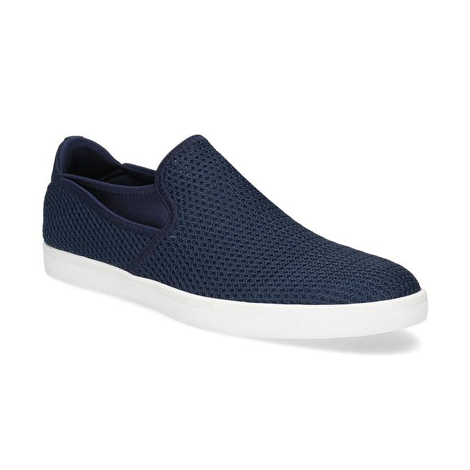 Modré pánské Slip-on boty z textilu bata-red-label, modrá, 839-9602 - 13