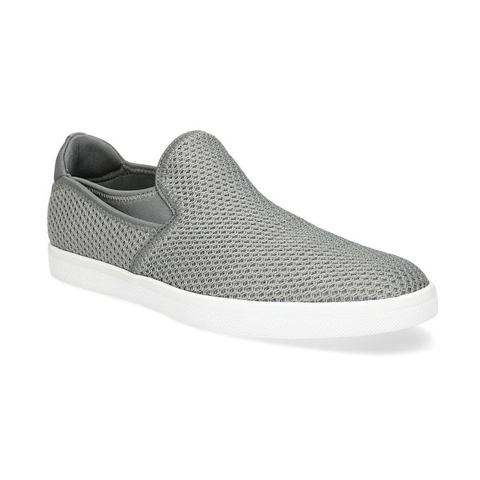Šedé Slip-on boty pánské bata-red-label, šedá, 839-2602 - 13