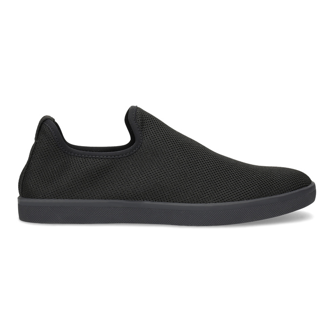 Pánské textilní Slip-on boty bata-red-label, černá, 839-6601 - 19