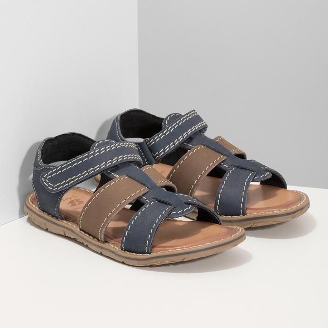 Chlapecké sandály z kůže mini-b, modrá, 366-9610 - 26