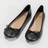 Kožené černé baleríny s mašličkou bata, černá, 524-6144 - 16