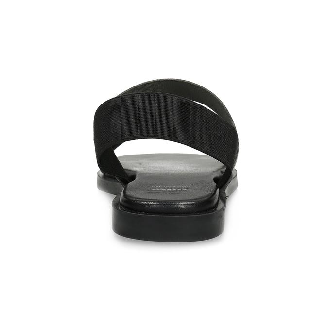 Kožené dámské černo-stříbrné sandály bata, černá, 566-6638 - 15