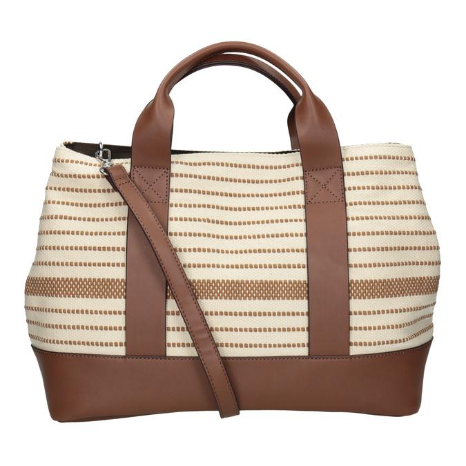 Hnědo-béžová kabelka s pruhy bata, béžová, 969-1307 - 16