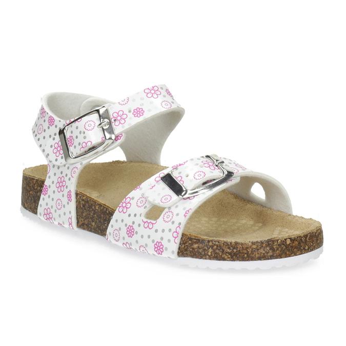 Dívčí sandály s korkovou podešví mini-b, bílá, 261-1212 - 13