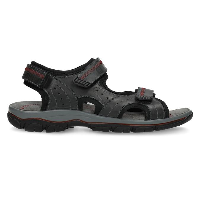Pánské kožené sandály na suchý zip černé weinbrenner, černá, 866-6635 - 19