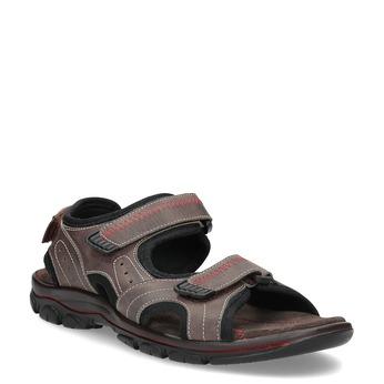 Pánské kožené sandály na suchý zip hnědé weinbrenner, hnědá, 866-4635 - 13