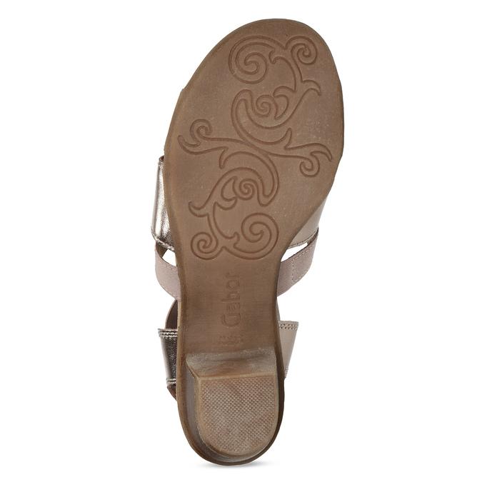 Kožené dámské sandály na nízkém podpatku gabor, růžová, 666-8338 - 18