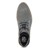 Chukka boots z broušené šedé kůže bugatti, šedá, 823-2015 - 17