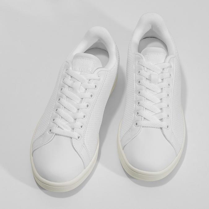 Bílé pánské tenisky se síťovinou adidas, bílá, 809-1395 - 16