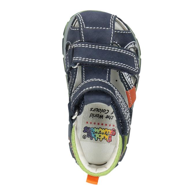 Chlapecké kožené sandály s potiskem mini-b, modrá, 166-9604 - 17