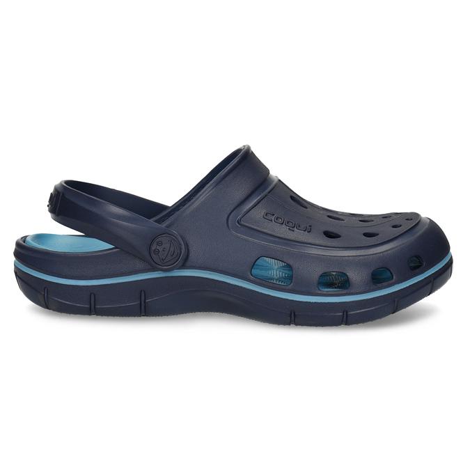 Modré dětské sandály typu Clogs coqui, modrá, 372-9656 - 19