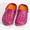 Růžové dámské sandály typu Clogs coqui, růžová, 572-5656 - 16