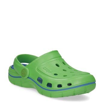Zelené dětské sandály typu Clogs coqui, zelená, 372-7656 - 13