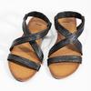 Černé kožené sandály dámské bata, černá, 566-6635 - 16
