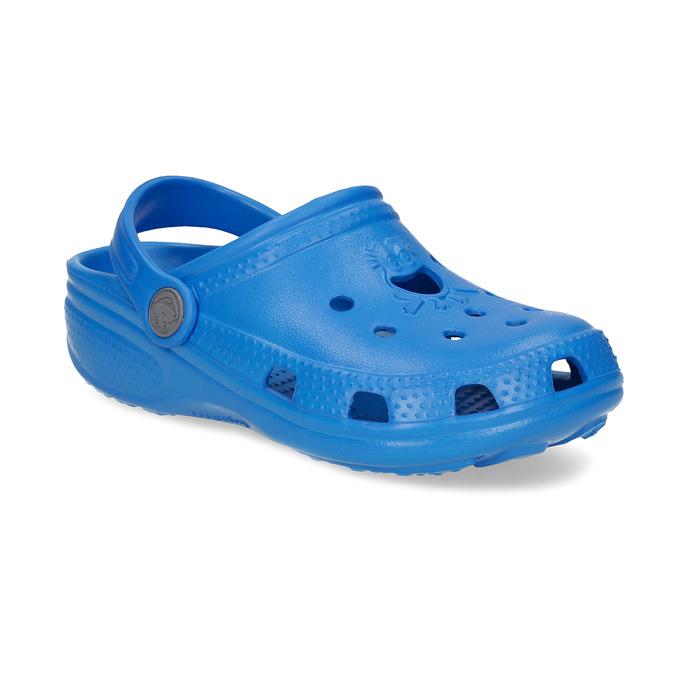 Modré dětské sandály s žabičkou coqui, modrá, 372-9655 - 13