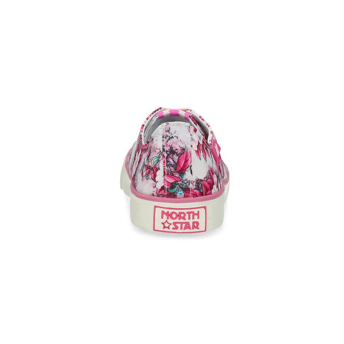 Růžové tenisky s květinovým vzorem north-star, růžová, 589-5460 - 15