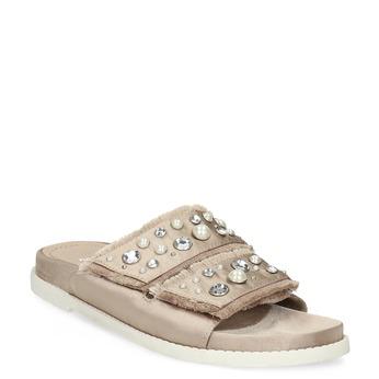 Nazouváky s kamínky a perličkami zlaté bata, béžová, 569-8618 - 13