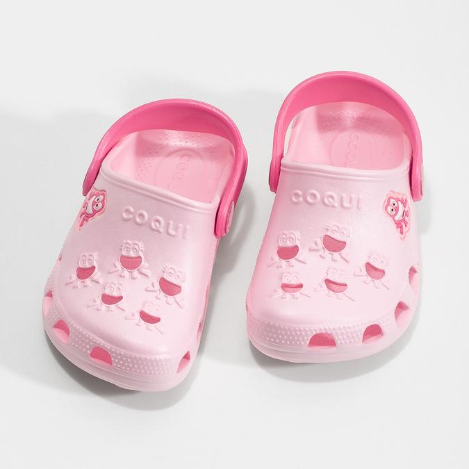 Dívčí růžové sandály se žabičkou coqui, růžová, 272-5650 - 16