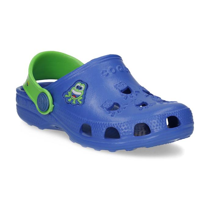 Modré dětské sandály se žabičkou coqui, modrá, 272-9650 - 13