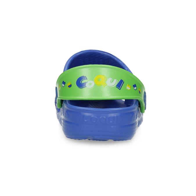 Modré dětské sandály se žabičkou coqui, modrá, 272-9650 - 15