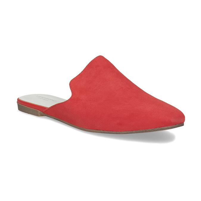 Vagabond Pantofle z broušené kůže červené - Pantofle  b65abdffa8