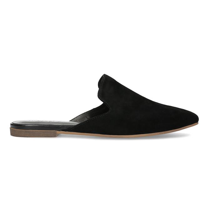 Pantofle z broušené kůže černé vagabond, černá, 573-6004 - 19