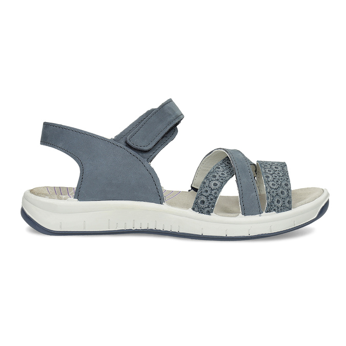 Kožené sandály v Outdoor stylu modré weinbrenner, modrá, 566-9634 - 19
