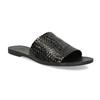 Kožené nazouváky s pleteným vzorem vagabond, černá, 564-6023 - 13