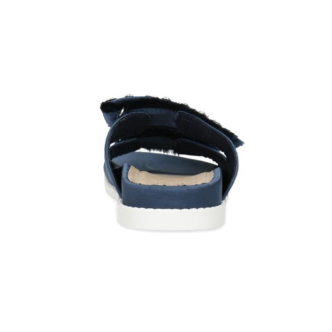 Modré nazouváky s kamínky a perličkami bata, modrá, 569-9618 - 15