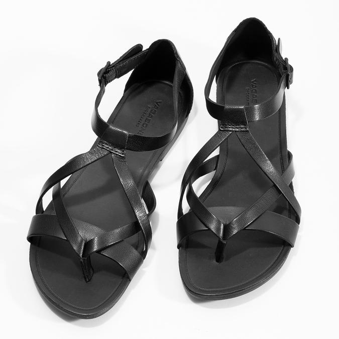 Černé dámské sandály vagabond, černá, 564-6017 - 16