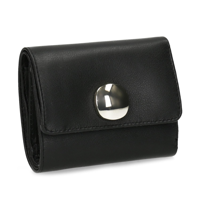 Vagabond Černá kožená peněženka se zlatým zapínáním - Peněženky ... 82634f2e39