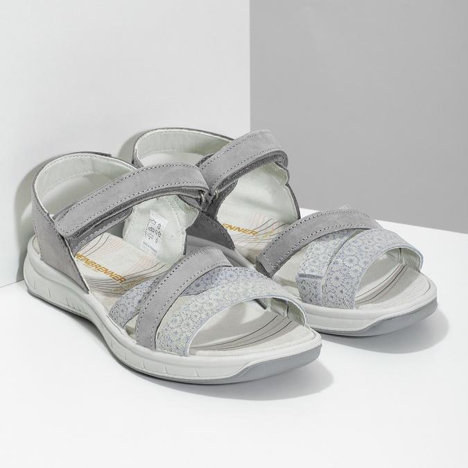 Kožené sandály v Outdoor stylu šedé weinbrenner, šedá, 566-2634 - 26