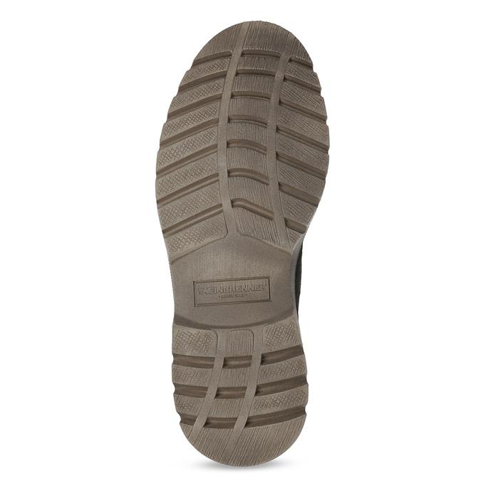 Pánská zimní kožená obuv weinbrenner, černá, 896-6107 - 18