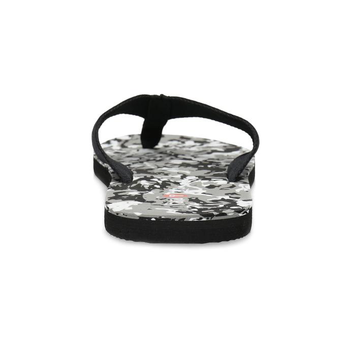 Pánské žabky s maskáčovým vzorem černé pata-pata, černá, 879-6615 - 15