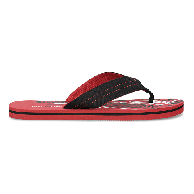 Pánské černo-červené pánské žabky pata-pata, červená, 879-9617 - 19