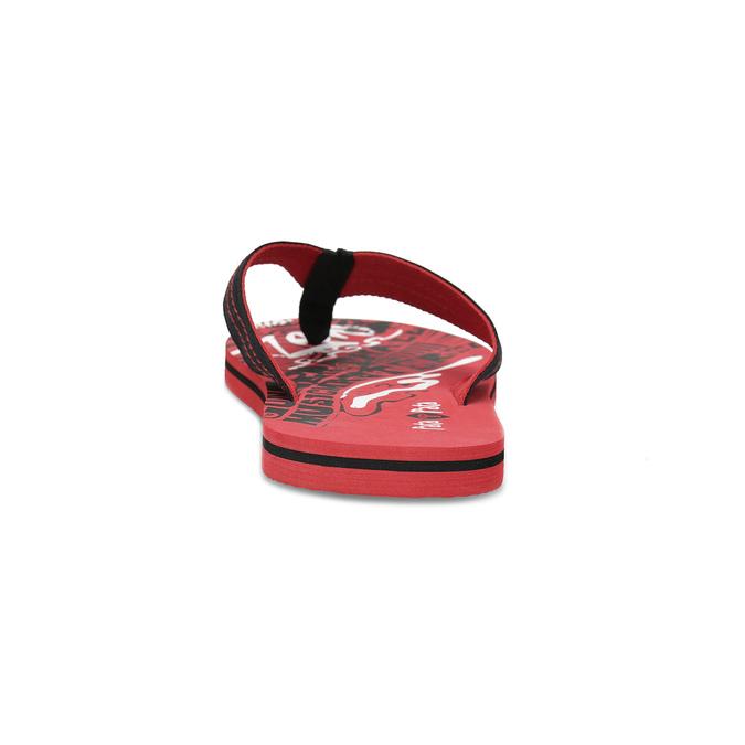 Pánské černo-červené pánské žabky pata-pata, červená, 879-9617 - 15