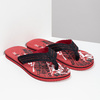 Pánské černo-červené pánské žabky pata-pata, červená, 879-9617 - 26