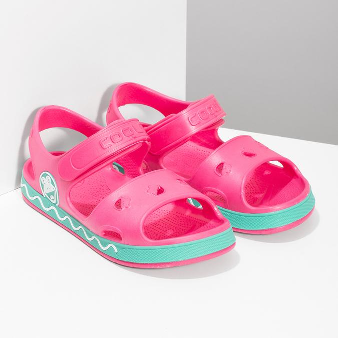 Dětské růžové sandály dívčí coqui, růžová, 372-5658 - 26