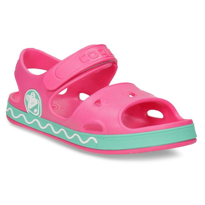 Dětské růžové sandály dívčí coqui, růžová, 372-5658 - 13