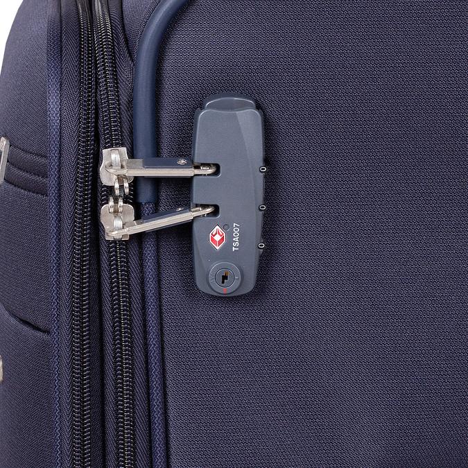 Tmavě modrý texilní kufr na kolečkách větší samsonite, modrá, 960-9042 - 15