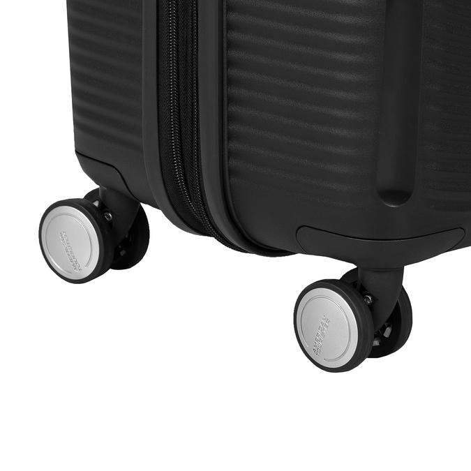 Černý skořepinový kufr na kolečkách american-tourister, černá, 960-6614 - 16