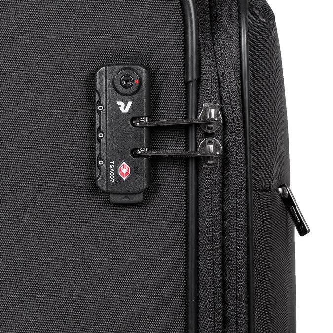 Velký textilní kufr na kolečkách roncato, černá, 969-6709 - 15