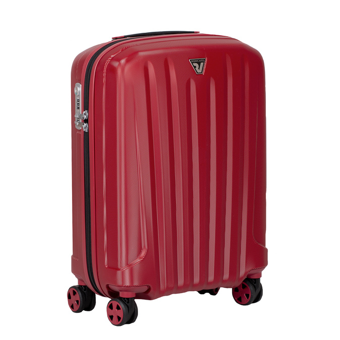 Červený skořepinový kufr na kolečkách malý roncato, červená, 960-5738 - 13