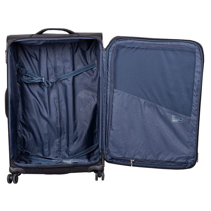 Velký textilní kufr na kolečkách roncato, černá, 969-6709 - 17