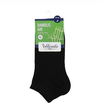 Nízké pánské ponožky černé bambus bellinda, černá, 919-6906 - 13