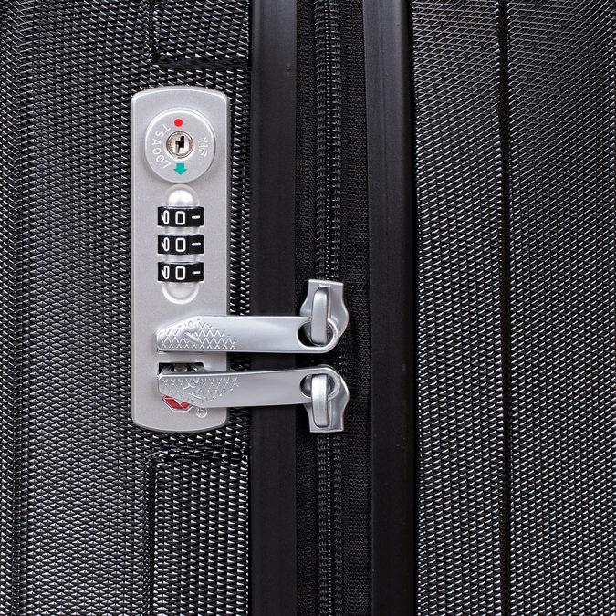 Černý kufr na kolečkách pevný malý roncato, černá, 960-6735 - 15