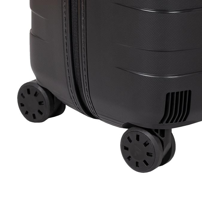 Skořepinový kufr černý velký roncato, černá, 960-9726 - 16